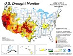 US Drought Monitor July 1, 2014