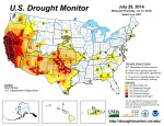 US Drought Monitor July 29, 2014