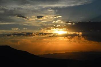 Grand Mesa Colorado sunset.