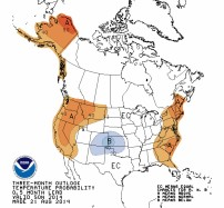 09-day temperature outlook August 21, 2014 via the Climate Predication Center