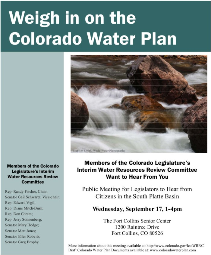Flyer-Colorado Water Plan