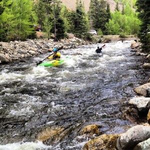 Kayaking a Colorado River