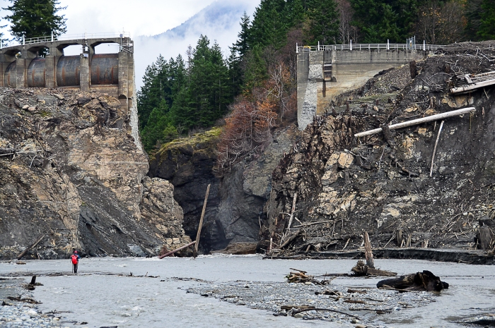 Demolition of the Glines Canyon Dam via The Seattle Times