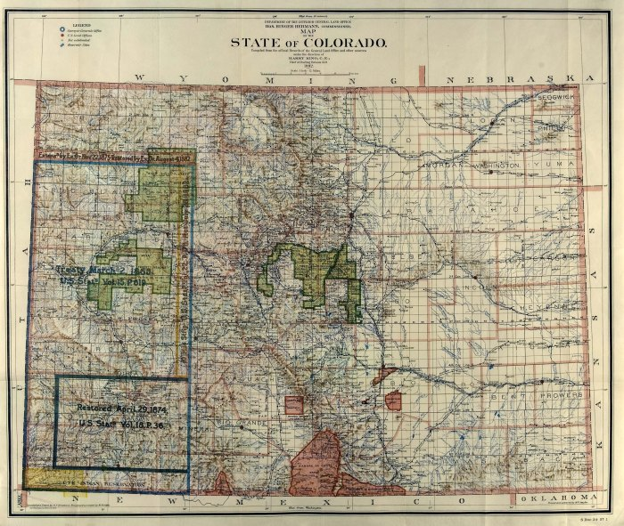 Land Office Map of Colorado (1902) via Greg Hobbs