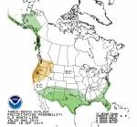 Three month precipitation outlook September 18 thru December 31, 2014 via the Climate Prediction Center