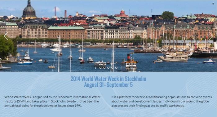 Screenshot from the World Water Week website