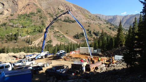 Remediation work in progress at the Pennsylvania Mine site in Summit County, Colorado. Photo via Snake River Watershed Task Force.