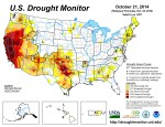 US Drought Monitor October 21, 2014