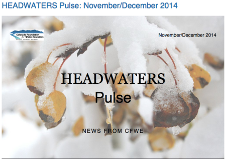 Headwaters Pulse cover November/December 2014