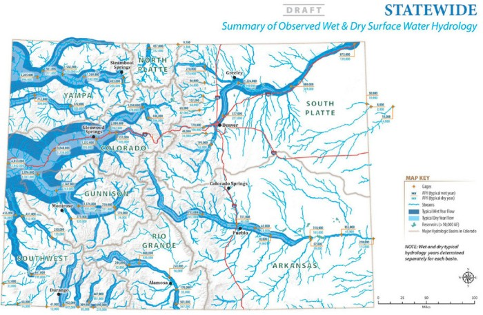 Summary of Observed Wet & Dry Surface Water Hydrology via SCW