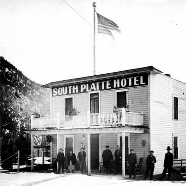 The South Platte Hotel was a popular stop for people traveling on the #railroad along the #SouthPlatteRiver. #TBT photo from 1925.