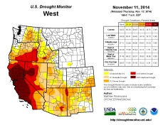 West Drought Monitor November 11, 2014