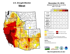West Drought Monitor December 23, 2014