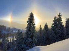 Frozen mists over the Blue River Valley turn the sun into a diamond -- Bob Berwyn