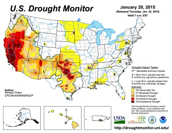 US Drought Monitor January 20, 2015