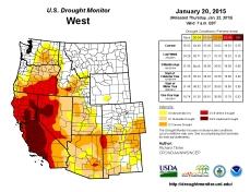 West Drought Monitor January 20, 2015