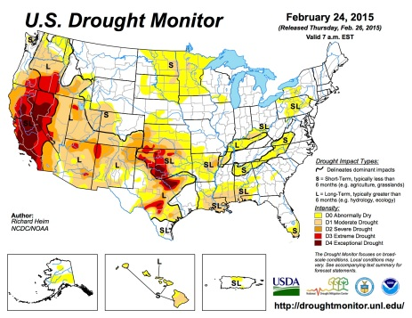 US Drought Monitor February 24, 2015