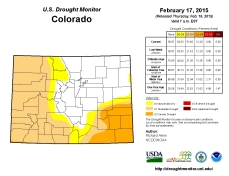 Colorado Drought Monitor February 15, 2015