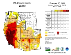West Drought Monitor February 15, 2015