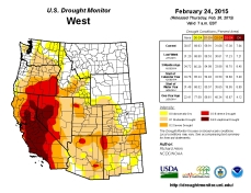 West Drought Monitor February 24, 2015
