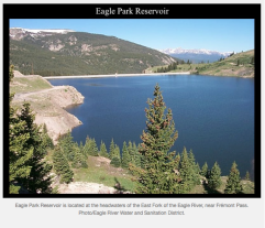 Eagle Park Reservoir. Photo credit: The Mountain Town News.