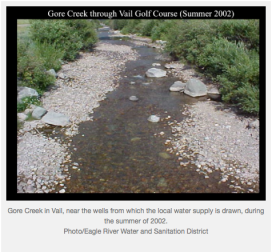 Gore Creek through Vail golf course summer 2002
