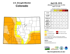 Colorado Drought Monitor April 28, 2015