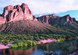Water flows near Phoenix, AZ. Tim McCabe/Photo courtesy of USDA Natural Resources Conservation Service., via Wikimedia Commons