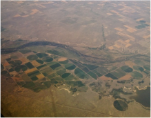 The plains around DIA were parched by the scorching 2012 drought, although groundwater pumping along the South Platte River enabled some farms to continue irrigating -- photo by Bob Berwyn
