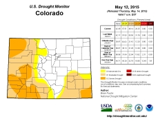 Colorado Drought Monitor May 12, 2015