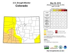 Colorado Drought Monitor May 26, 2015