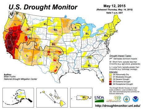 US Drought Monitor May 12, 2015