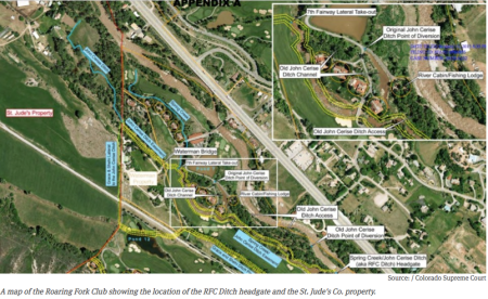 Aerial view of the Roaring Fork Club (exhibit at trial) via Aspen Journalism