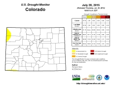 Colorado Drought Monitor July 28, 2015