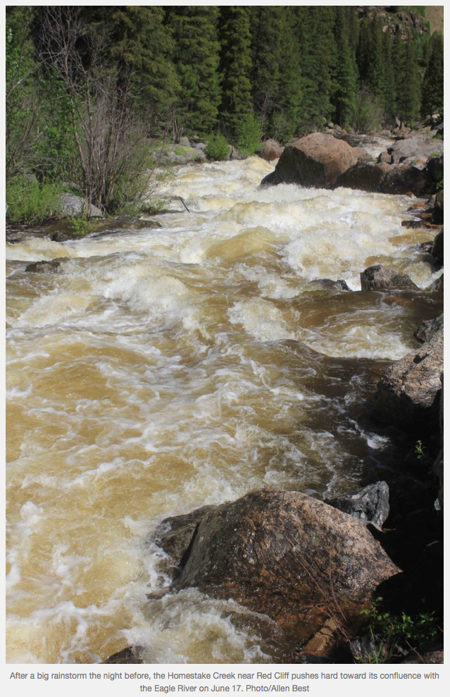 Homestake Creek  June 17, 2015 via Allen Best