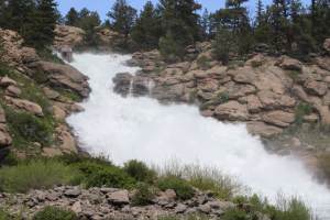 The spillway at Eleven Mile Canyon Dam experienced its highest water levels since 1995.