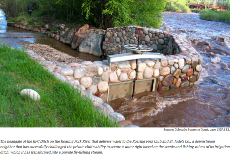 Spring Creek (RFC Ditch) Roaring Fork River via Aspen Journalism