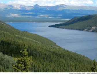 Turrquoise Reservoir, which stores water brought under the Continental Divide from the Eagle, Fryingpan and Roaring Fork river headwaters.