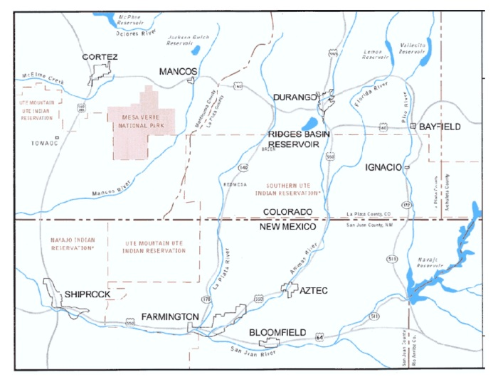 Animas-La Plata Project map via USBR