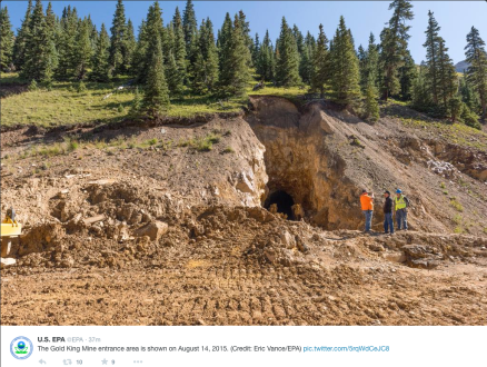 Gold King mine entrance August 14, 2015 via the Environmental Protection Agency