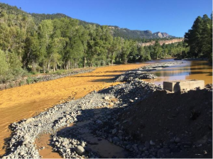 Health and environmental officials in San Juan County are evaluating the Animas River after roughly 1 million gallons of mine waste water were released Wednesday. August 6, 2015. (Photo courtesy San Juan Basin Health Department)