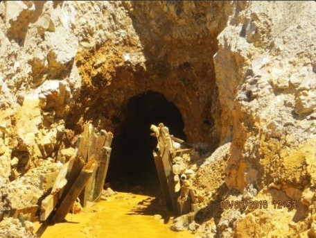Gold King Mine entrance after blowout August 2015