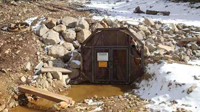 Portal of the Pennsylvania Mine in Summit County, upstream from Keystone Resort. Photo courtesy of Jeff Graves, Colorado Division of Reclamation, Mining and Safety