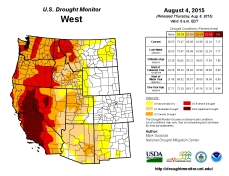 West Drought Monitor August 8, 2015