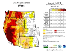 West Drought Monitor August 11, 2015