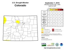 Colorado Drought Monitor September 1, 2015