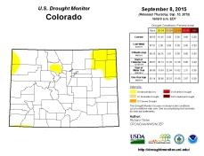 Colorado Drought Monitor September 8, 2015