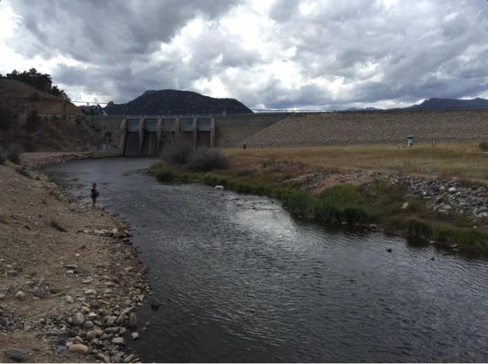 Fly fishing below Olympus Dam (Colorado-Big Thompson Project) September 17, 2015 via the Bureau of Reclamation