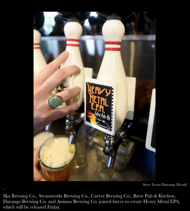 Heavy Metal E.P.A. Extra Pale Ale on tap at the Ska Brewery in Durango on August 4, 2015 via The Durango Herald