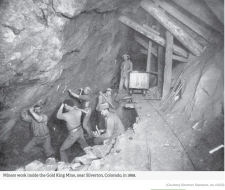 Gold King Mine circa 1899 via The Silverton Standard